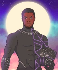 Black Panther Art Paint by numbers