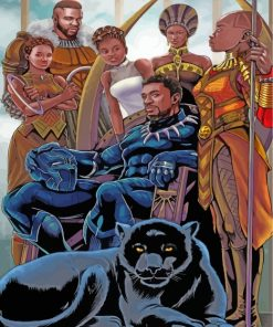 Black Panther Paint by numbers