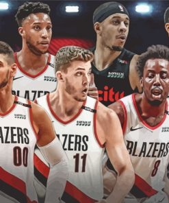 Blazers-basketball--players-paint-by-numbers