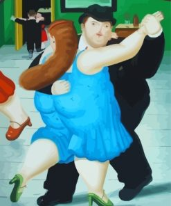 Botero Fat Dancers Paint by numbers
