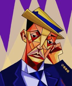 Buster Keaton Cubism Art Paint by numbers
