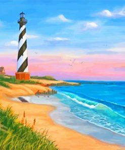 Cape Hatteras Seascape Paint by numbers