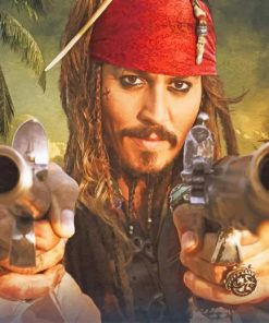 Captain-Jack-Sparrow-The-Pirate-paint-by-numbers