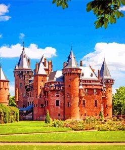Castle De Haar Netherlands Utrecht Paint by numbers