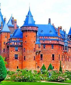 Castle De Haar Netherlands Paint by numbers