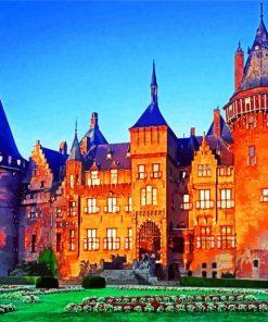 Castle De Haar Utrecht Paint by numbers