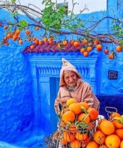 Chefchaouen The Blue Pearl Paint by numbers