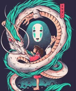 Chihiro-haku-and-no-face-paint-by-numbers