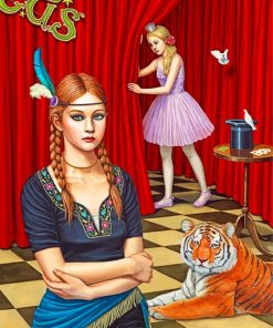 Circus Girls Paint by numbers