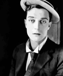Classy Buster Keaton Paint by numbers