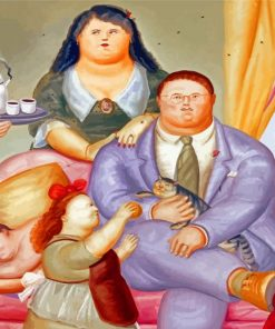 Classy Fat Family paint by number