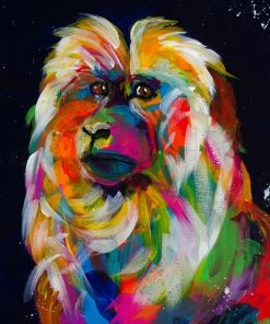 Colorful-Macaques-DIY-Animals-Paint-By-Numbers-PBN-9916