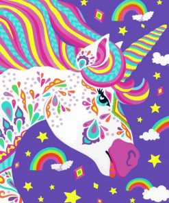Colorful Unicorn Paint by numbers
