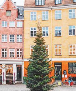 Copenhage-Grabrodretorv-Christmas-Tree-paint-by-number