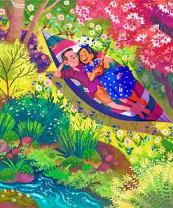 Couple In Hammock Paint by numbers