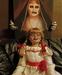 Creepy Annabelle Doll Paint by numbers