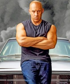 Dominic Toretto Paint by numbers