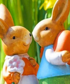 Easter Bunny Rabbits Paint by numbers