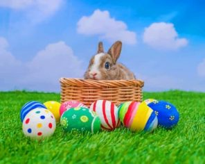 Easter Rabbit paint by numbers