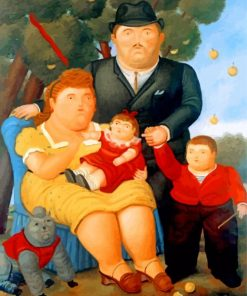 Family Fernando Botero Paint by numbers
