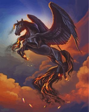 Fantasy Horse Paint by numbers