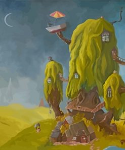 Fantasy Tree House Paint by numbers