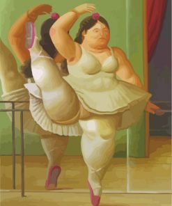 Fat Ballerina Dancer Paint by numbers