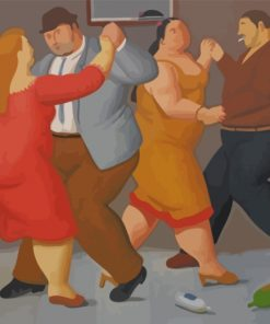 Fat Couples Dancing Paint by numbers