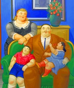 Fernand Botero Family Paint by numbers