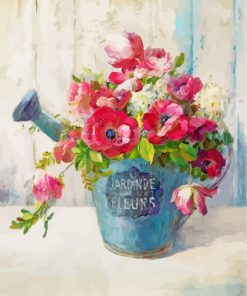 Flower Vase Paint by numbers
