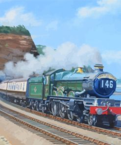 Flying Scotsman Old Train Paint by numbers