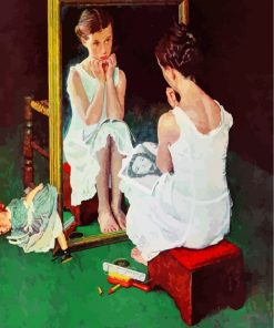 Girl At The Mirror Paint by numbers