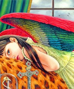 Girl With Wings Paint by numbers