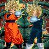 Goku And Vegita Dragon Ball paint by numbers