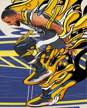 Golden-State-Warriors-player-paint-by-numbers