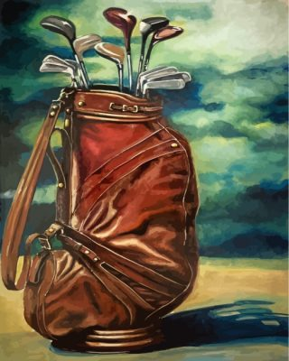 Golf Pitching Wedge Paint by numbers