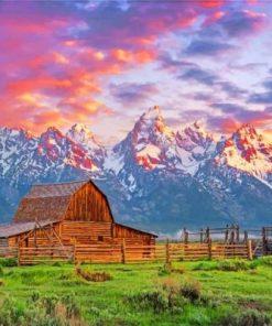 Grand Teton National Park Jackson Hole paint by numbers