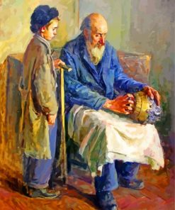Grandfather And Grandson Paint by numbers