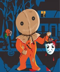 Halloween Trick r Treat Paint by numbers