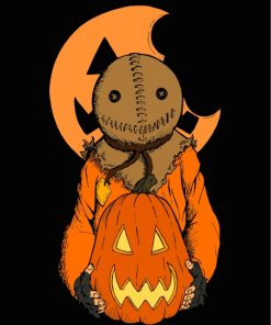 Halloween Trick r Treat Sam Paint by numbers