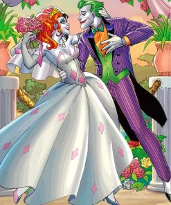 Harley Quinn And Joker Wedding Paint by numbers