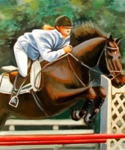 Horse Jumping Paint by numbers