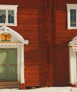 Houses-Swedish-paint-by-number