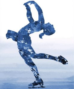 Ice Skater Girl Art Paint by numbers