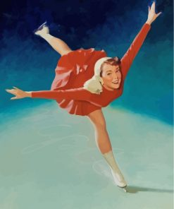 Ice Skater Girl Paint by numbers