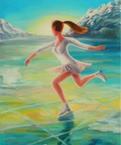 Ice Skater Woman Paint by numbers