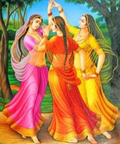 Indian Ladies paint By numbers