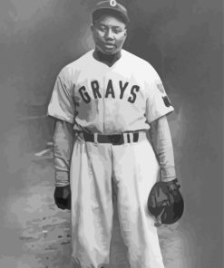 Josh Gibson Baseball Player Paint by numbers