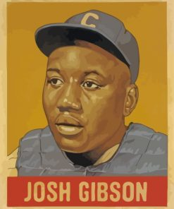 Josh Gibson Baseball Paint by numbers