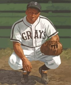 Josh Gibson Negro Paint by numbers